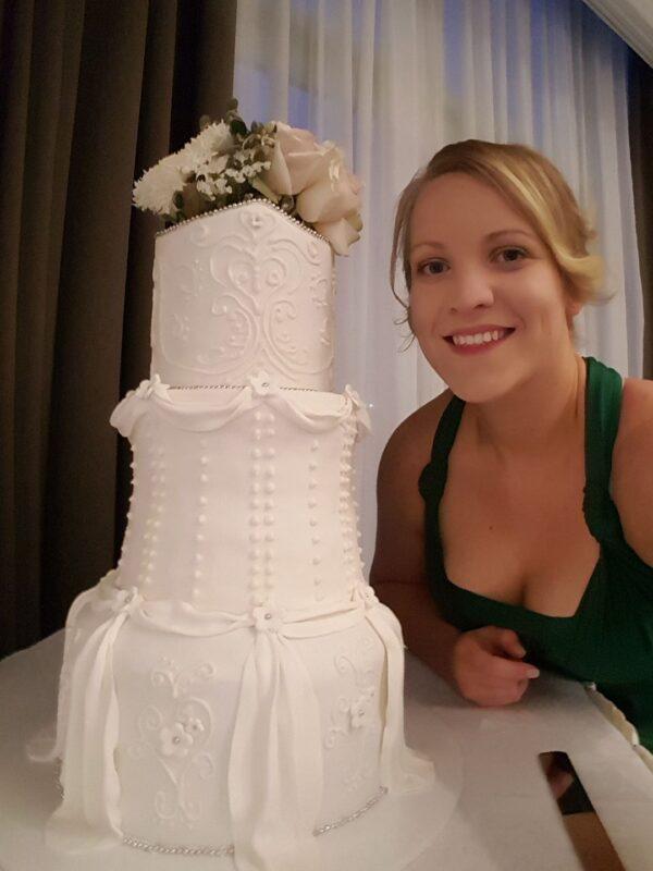 Princess Dress Wedding Cake