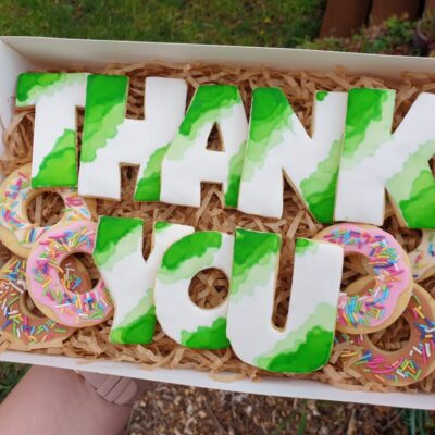 Bespoke thank you cookies