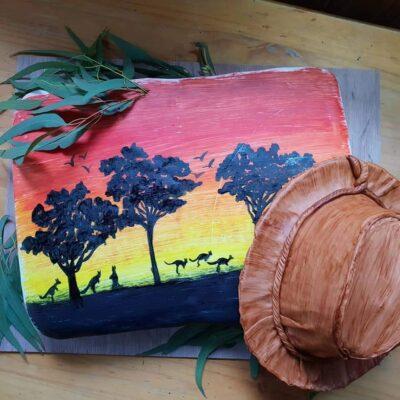 Hand painted Australiana