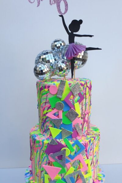 Neon Disco Cake